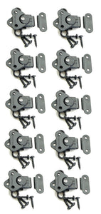 10 Genuine Pack Penn Elcom 7365BK/0334BK Black Butterfly Latch/Keeper w/ Screws
