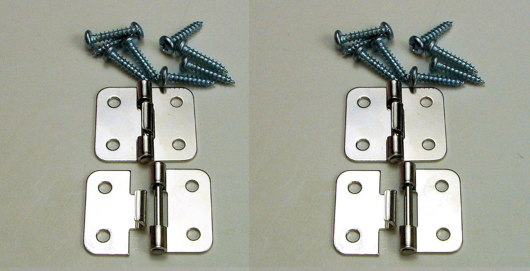 4 Pack Penn Elcom P0644N Take Apart/Lift Off Hinge Nickle Finish W/Mtg. Screws