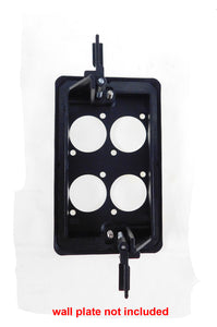 Wall Plate Mounting Bracket 1 Gang Low Voltage AV Networking LY-022