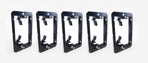 5 Pack Wall Plate Mounting Bracket 1 Gang Low Voltage AV Networking LY-022