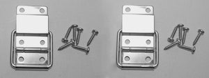 One Pair Penn Elcom Small Stop Hinge with Screws- Nickle Finish - P1990N