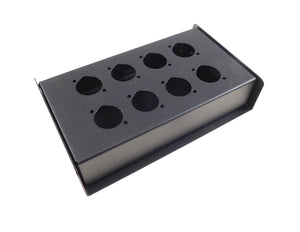 "Steel Project Box 7-5/16"" x 4-1/2"" x 1-5/8"" Pre-punched for 8 ""D"" Series XLR's"