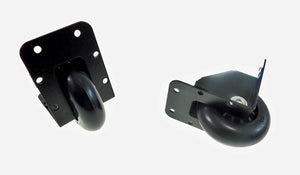 "2 Pack Reliable Hardware 2-3/4"" Recessed Caster Black Powder Coated Steel 9024BK"