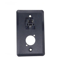 "Load image into Gallery viewer, Procraft Steel Wall Plate W/1 AC and Punched for 1 ""D"" Series Connector - Black"