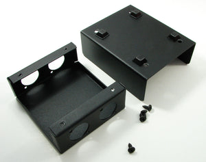 "Steel Project  Box  4 1/2"" x 3-3/4"" x 1 5/8"" Pre-Punched for 4 ""D"" Series XLR's"