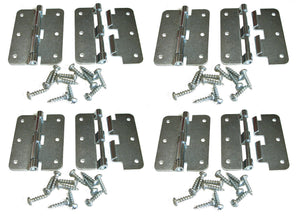 8 Pack Penn Elcom P0626EZ Zinc Plated Large Take Apart Hinge With Screws