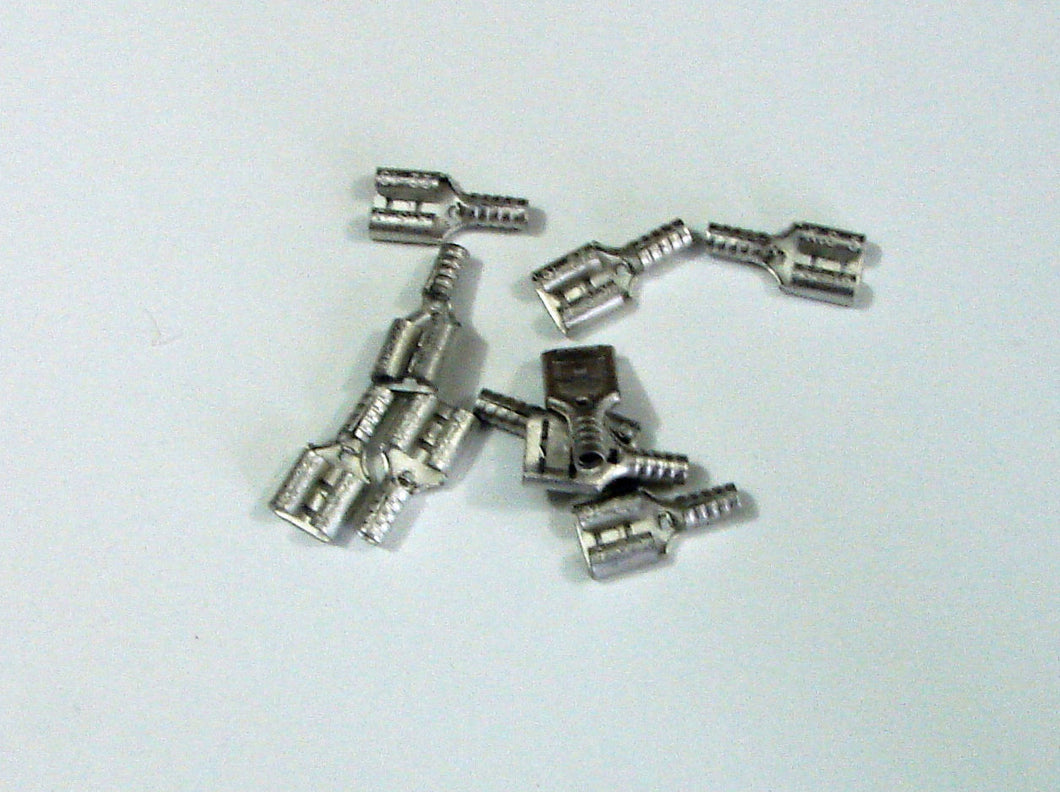 10 Pack .205 Female Terminal - Crimp Type Disconnect - for Speakers