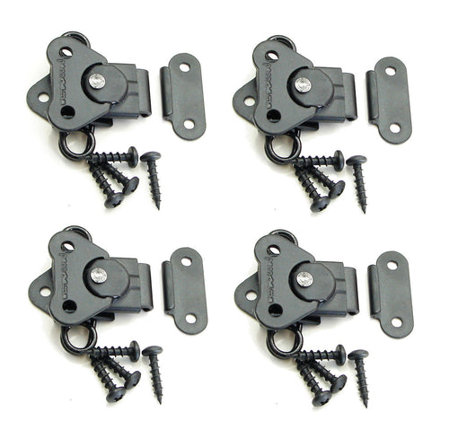 4 Genuine NEW Penn Elcom 7365BK/0334BK Black Butterfly Latch & Keeper w/ Screws