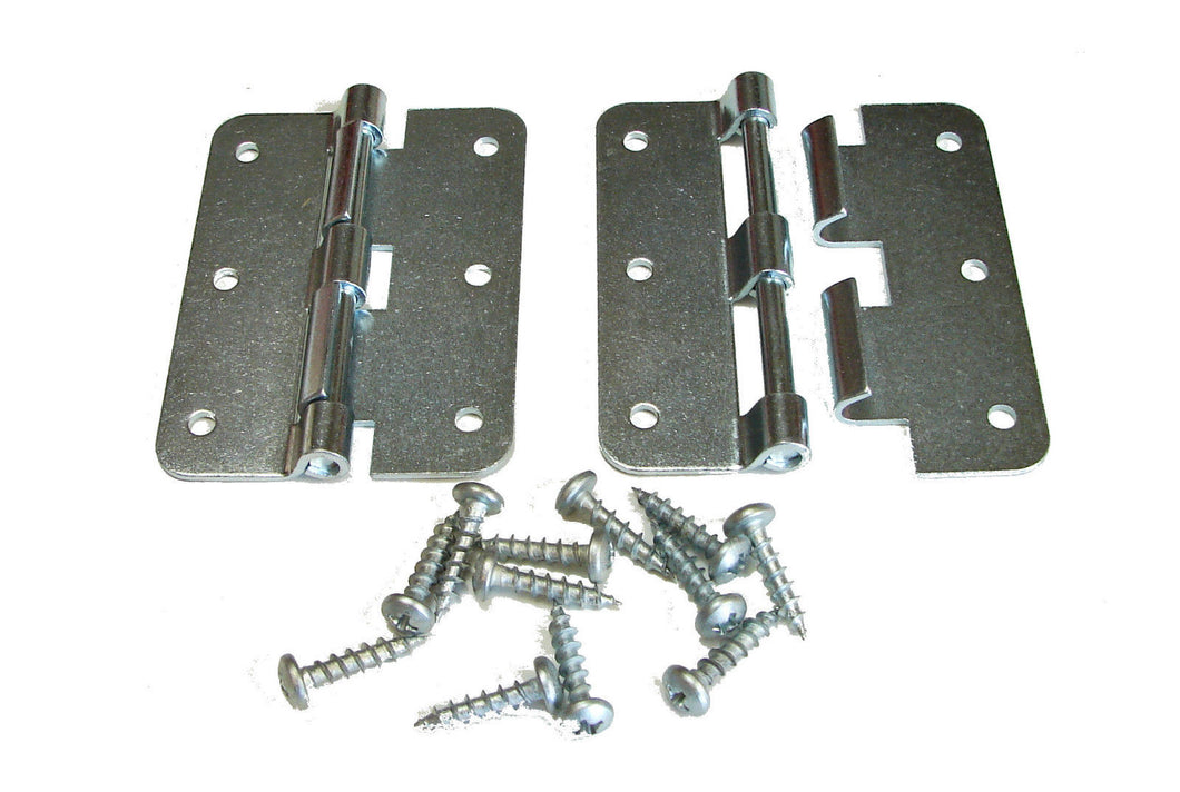 2 Pack Penn Elcom P0626EZ Zinc Plated Large Take Apart Hinge With Screws