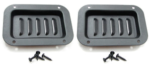 2 Pack Penn Elcom D0516BK Recessed Louver Dish Black with Mounting Screws