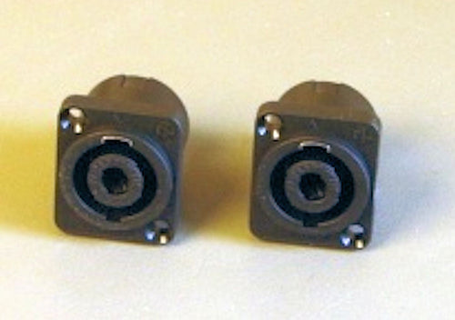 Two Neutruk NL4MP Panel Mount Speakon Connectors