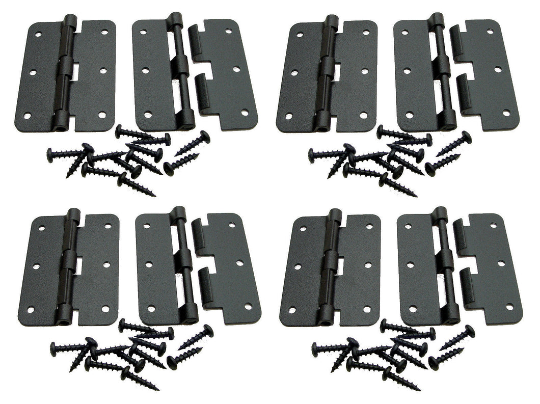 8 Pack Penn Elcom P0626K Black -  Large Take Apart Hinge With Screws