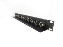 Load image into Gallery viewer, 1U Procraft 12 Channel Female XLR Rack Panel Tie-Down Shelf    TSP1U-12XF-BK