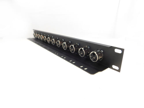 1U Procraft 12 Channel Female XLR Rack Panel Tie-Down Shelf    TSP1U-12XF-BK