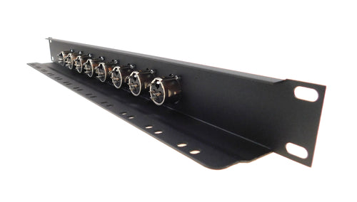 1U Procraft 8 Channel Female XLR Rack Panel Tie-Down Shelf    TSP1U-8XF-BK