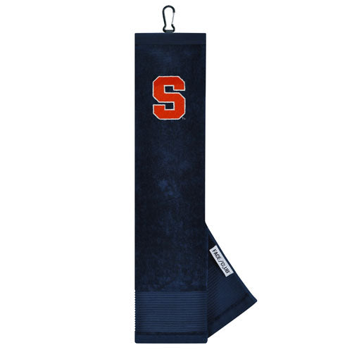 "Team Effort Navy Embroidered ""Block S"" Golf Towel"