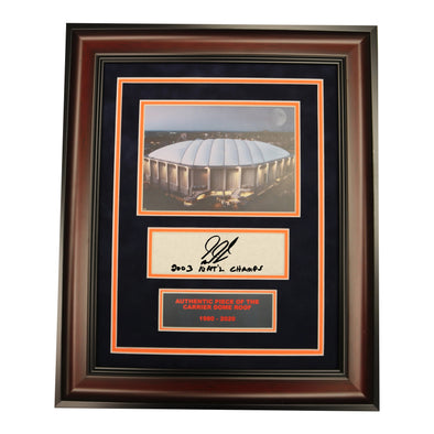 "Gerry McNamara Autographed ""03 Natl Champs"" 11x14 Exterior Dome Framed Collage with Piece of Carrier Dome Roof"