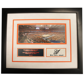 "Gerry McNamara Autographed ""03 National Champs"" 11x14 Record Attendance Framed Collage with Piece of Carrier Dome Roof"