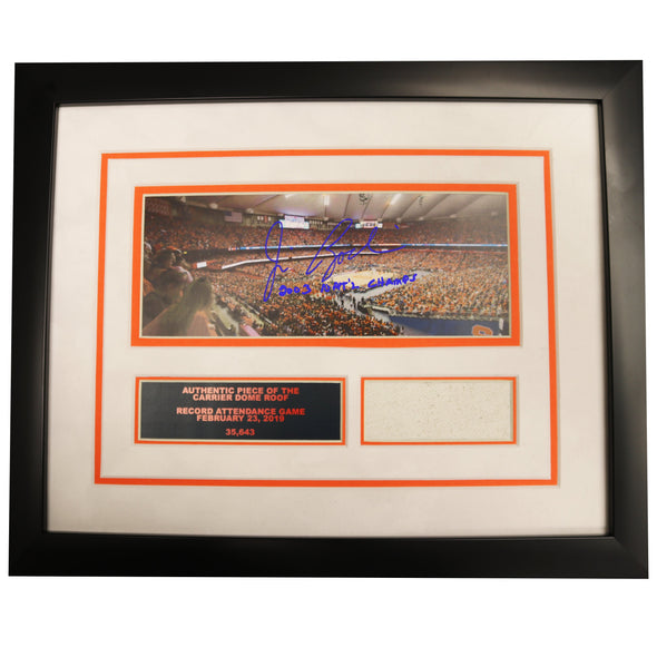 "Jim Boeheim Autographed Framed ""Record Attendance"" Photo with Carrier Dome Roof"