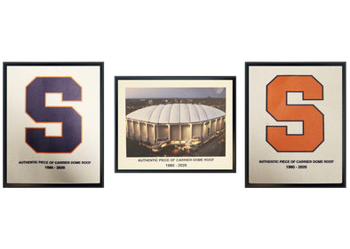 "Authentic 5x7 Dome Roof Plaque Collection with ""Orange S, Navy S, and Dome Image"""