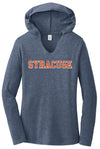 District Made Women's Tri-Blend V-Neck Hoodie