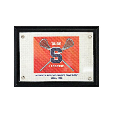 Syracuse University Orange Lacrosse Logo Authentic Piece of Carrier Dome Roof 5x7 Plaque