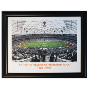 Syracuse University Authentic 20x24 Piece of Carrier Dome Roof of Football Game