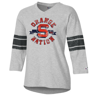 Champion Women's Rochester Football V-Neck 3/4 Sleeve