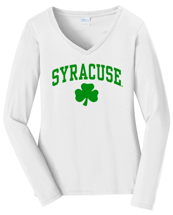Women's Shamrock V-Neck Long Sleeve