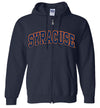 Distressed Syracuse Full Zip Hoodie