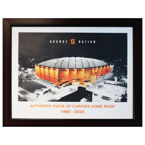Authentic 20x24 Piece of Carrier Dome Roof at Night with Artist Embellishment