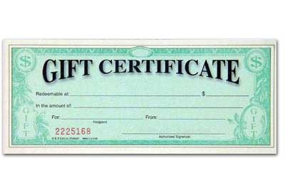 Store Gift Certificate