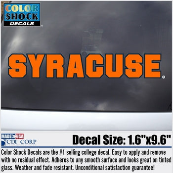 Syracuse Block Letters Decal