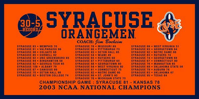 Syracuse Felt 2003 Basketball National Championship Banner