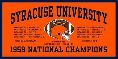 Syracuse Felt 1959 Football National Championship Banner