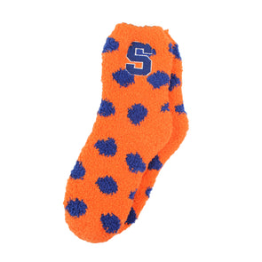 Zoozatz Women's Fuzzy Polka Dot Socks