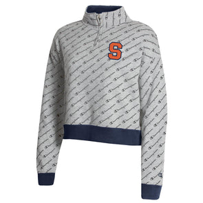 Champion Women's Super Fan 1/4 Zip with All-Over Print