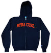 Syracuse Champion® Full Zip Felt Twill Hoodie