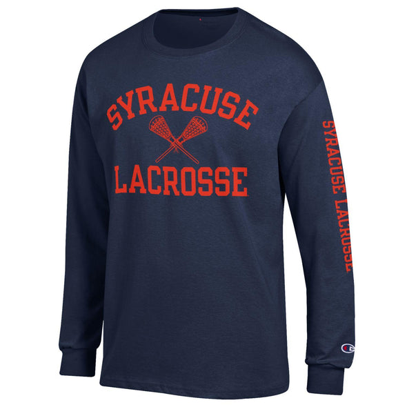 Champion 1 Color Syracuse Lacrosse Long Sleeve