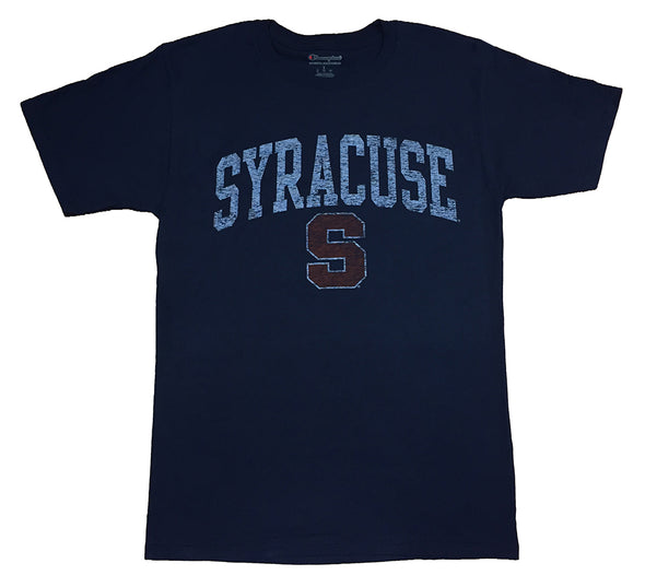 "Syracuse Champion® ""Distressed Syracuse S"" Short Sleeve T-Shirt"