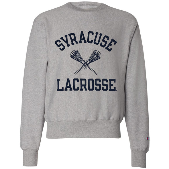 Champion 1 Color Heavyweight Reverse Weave Lacrosse Crew Neck Sweatshirt