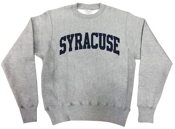 Syracuse Champion®  1 Color Heavyweight Twill Lettered Crew Sweatshirt