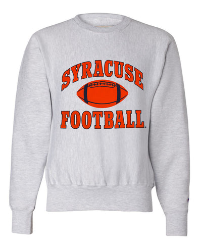 Champion 2 Color Heavyweight Reverse Weave Football Crew Neck Sweatshirt