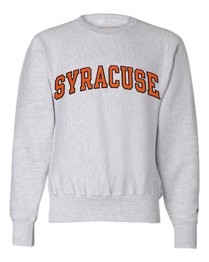 Champion Heavyweight Reverse Weave 2 Color Syracuse Twill Crew Neck Sweatshirt