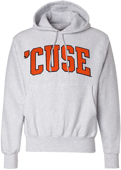 Syracuse Champion®  2 Color 'Cuse Twill Lettered Hoodie