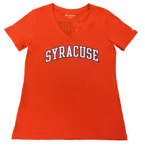 "Syracuse Champion® Women's ""Cuse Girls Have More Fun"" V-Neck T-Shirt"