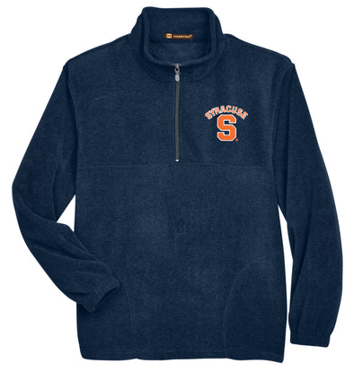 Harriton Navy 1/4 Zip Fleece