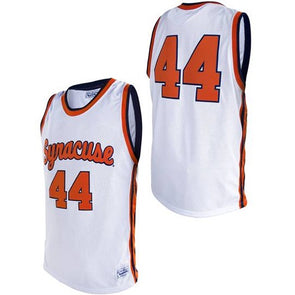 Retro Brand Commemorative Tackle Twill Syracuse Script #44 Basketball Jersey
