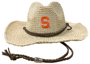 LogoFit Sahara Crushable Cowboy Hat with Braided Leather Cords