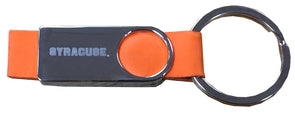 LXG Orange Leather Laser Etched Keychain